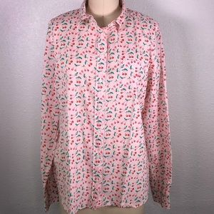 J. Crew Factory Pink Cherry Shirt